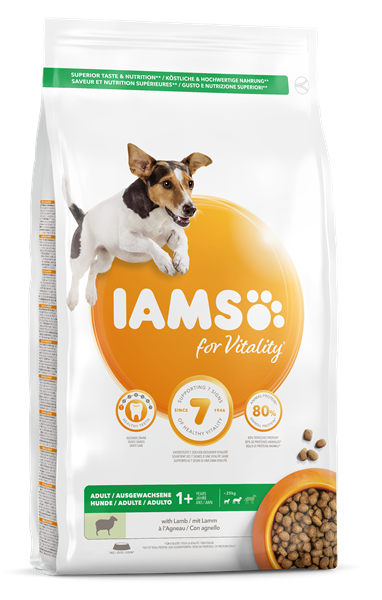 IAMS for Vitality Adult Small and Medium Dog food with Lamb